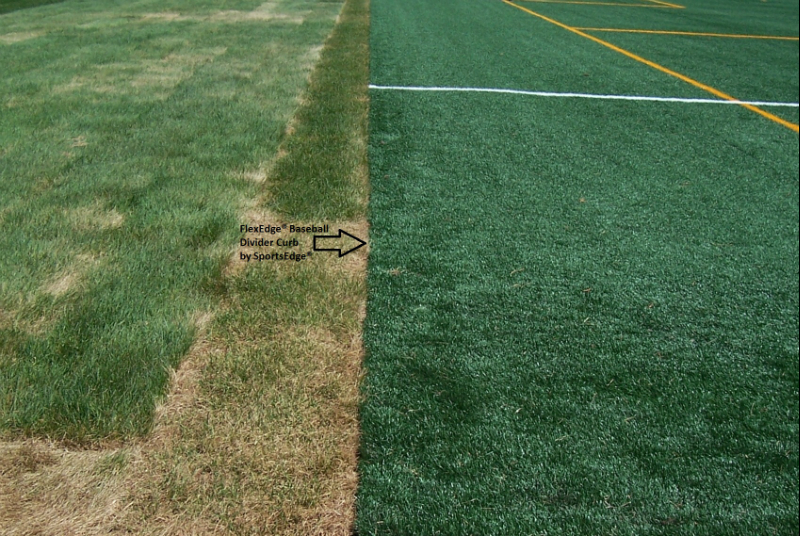Rubber baseball divider edge sportsedge for Lawn divider
