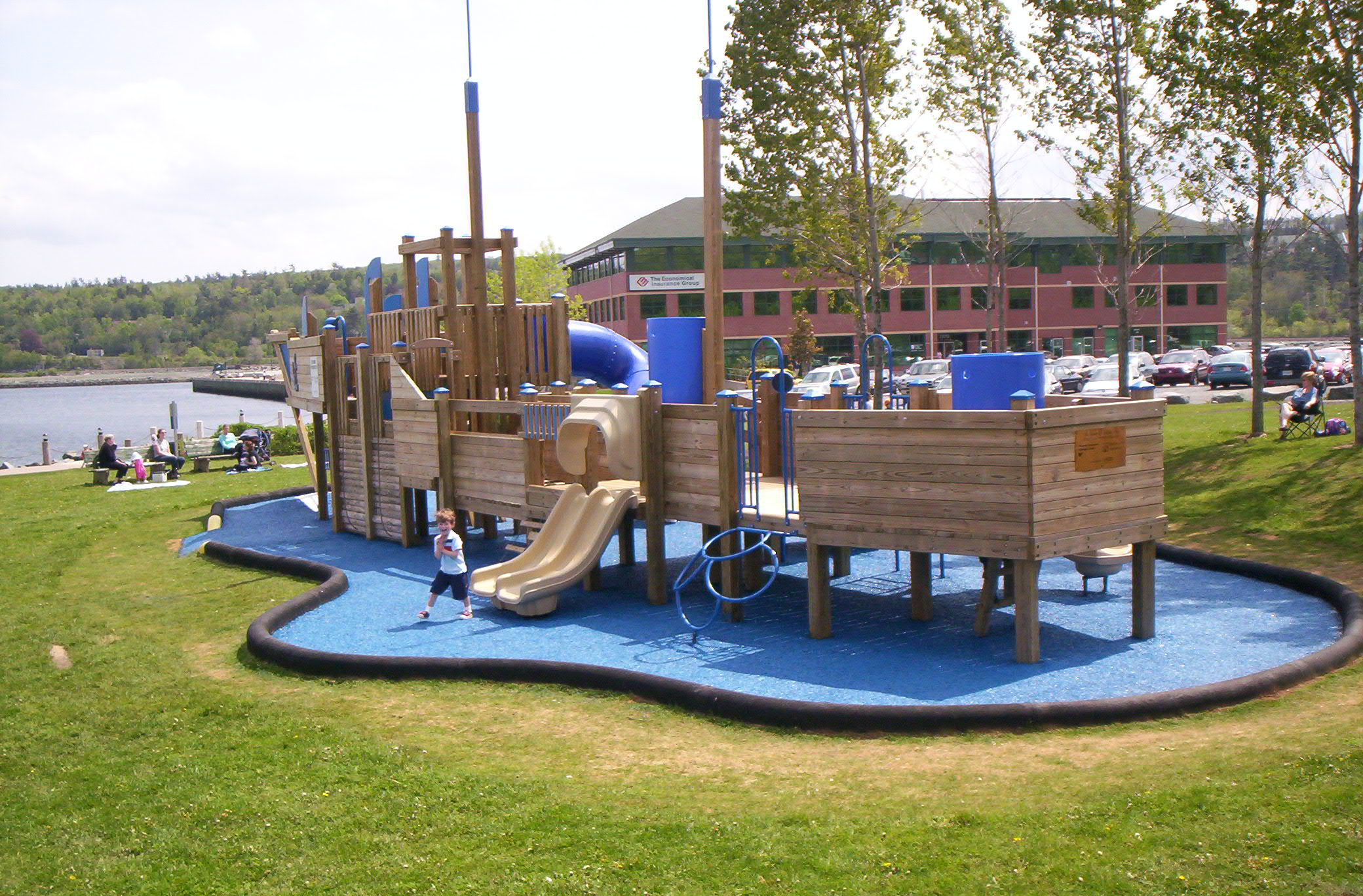 Playground Rubber Containment Barriers SportsEdge