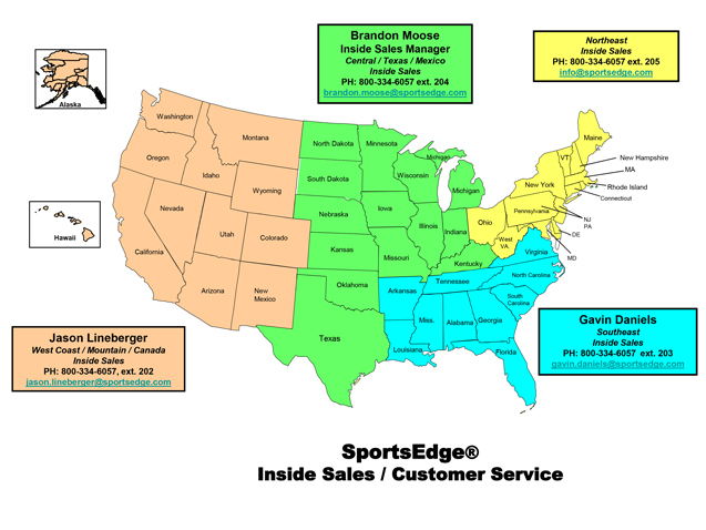 Inside Sales Rep Directory Map