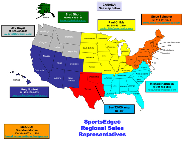 Regional Sales Rep Directory Map